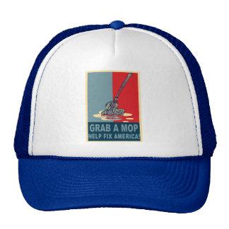 Grab a Mop and Help Clean Up America Pop Art Tee Trucker Hat