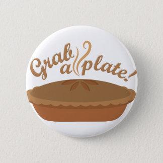 Grab A Plate Pinback Button