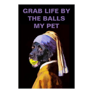 Grab Life by the Balls Large Archival Matte Print
