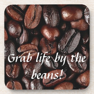 Grab Life by the Beans Coffee Coasters Set Hot