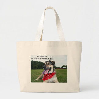 Grab Life by the Tail and HANG ON TIGHT! Jumbo Tote Bag