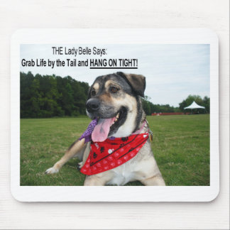 Grab Life by the Tail and HANG ON TIGHT! Mouse Pad