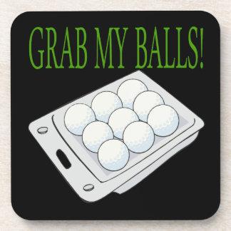 Grab My Balls Beverage Coaster