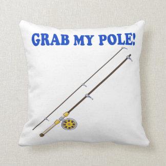 Grab My Pole Throw Pillow