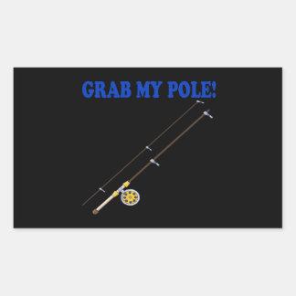 Grab My Pole Rectangular Sticker