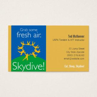 Grab some fresh air. Skydive! Business Card