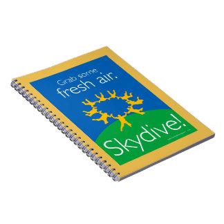 Grab some fresh air. Skydive! Spiral Note Books