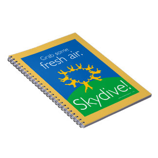 Grab some fresh air. Skydive! Spiral Notebook