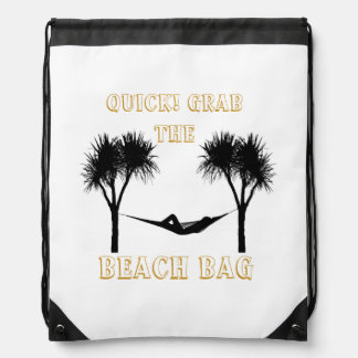 Grab the Beach Bag Drawstring Backpack