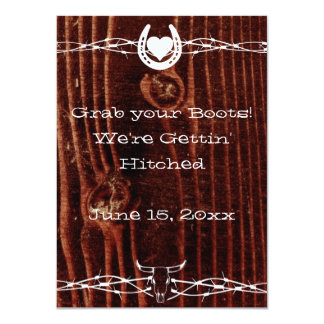 Grab your Boots Country Western Wedding Invitation Custom Invitations