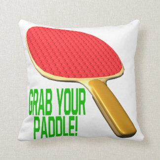 Grab Your Paddle Throw Pillows