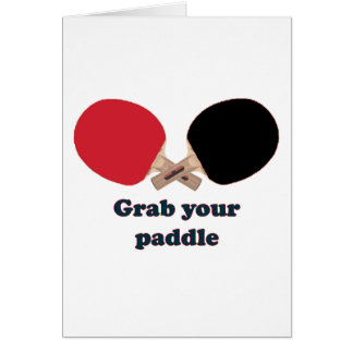 Grab Your Paddle Ping Pong Stationery Note Card