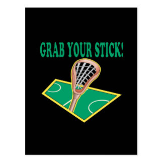 Grab Your Stick Postcard