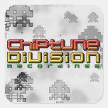 Grabaciones de la división de Chiptune Calcomanía Cuadrada Personalizada