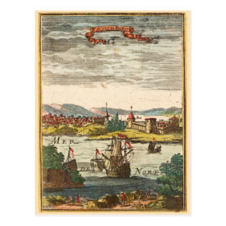 Grabado 1686 de la antigüedad de St Augustine la F Postal