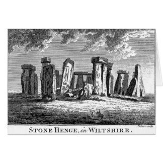 Grabado antiguo del círculo de la piedra del tarjeta de felicitación