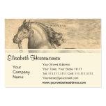 Grabado antiguo elegante del caballo español tarjeta personal