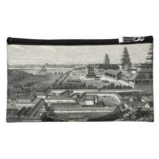 Grabado complejo del palacio del castillo de Edo