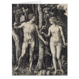 Grabado de Adán y de Eva de Albrecht Durer