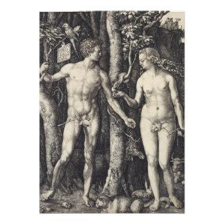 Grabado de Adán y de Eva de Albrecht Durer Comunicado Personal