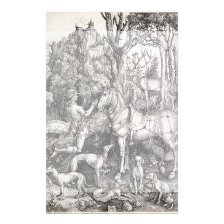 """Grabado de Eustace del santo de Albrecht Durer Folleto 5.5"""" X 8.5"""""""