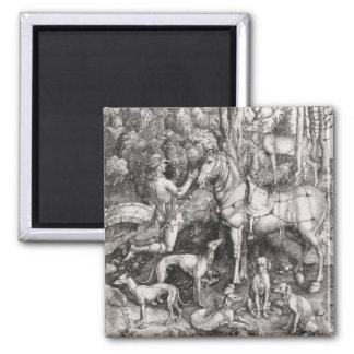 Grabado de Eustace del santo de Albrecht Durer Imanes De Nevera