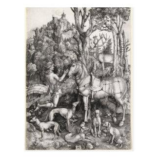 Grabado de Eustace del santo de Albrecht Durer Postales