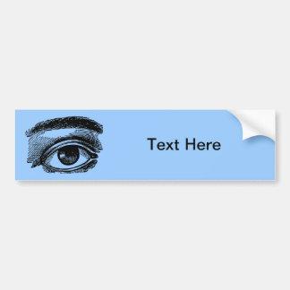 Grabado de madera del ojo grande del vintage etiqueta de parachoque