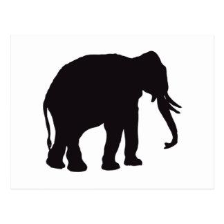 Grabado de madera del vintage del elefante postal