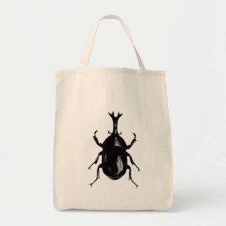 Grabado de madera del vintage del insecto del bolsa tela para la compra