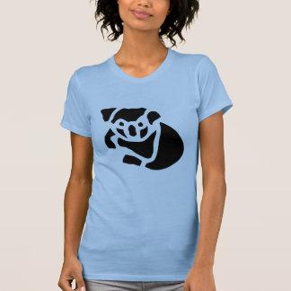 Grabado de madera del vintage del oso de koala camisetas