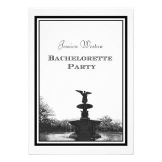 Grabado de pistas Bachelorette de Bethesda pie DIY Invitación Personalizada
