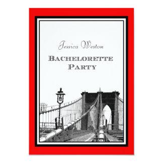 """Grabado de pistas Bachelorette del puente #1R DIY Invitación 5"""" X 7"""""""
