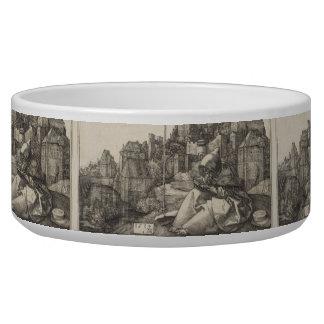 Grabado de San Antonio de Albrecht Durer Tazones Para Perrros