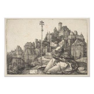 Grabado de San Antonio de Albrecht Durer Cojinete