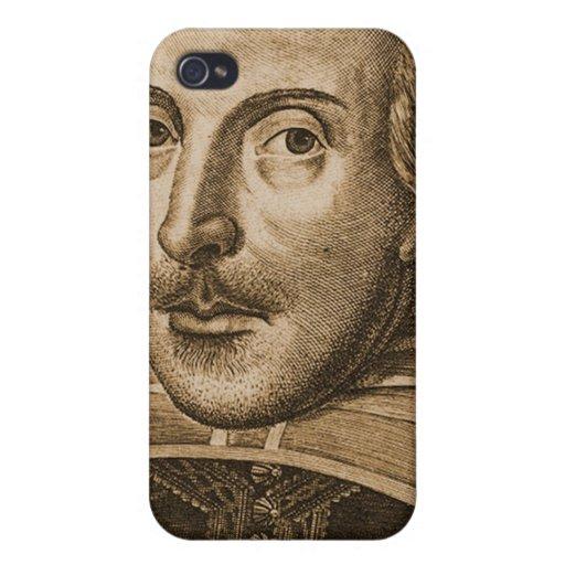 Grabado de Shakespeare Droeshout iPhone 4 Cárcasas