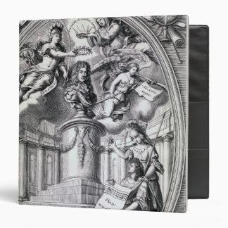 "Grabado dedicatorio al dedo de Gottfried, 1688 Carpeta 1 1/2"""