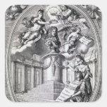Grabado dedicatorio al dedo de Gottfried, 1688 Colcomanias Cuadradases