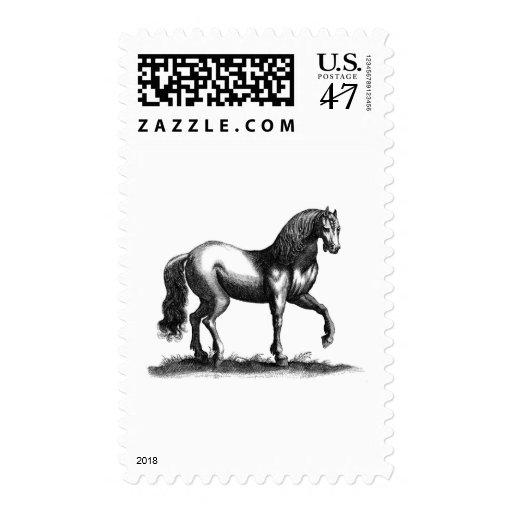 Grabado del caballo estampillas