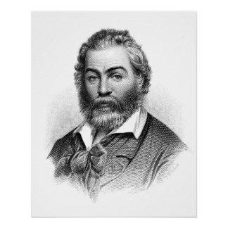 Grabado del grabar en madera de Walt Whitman antes