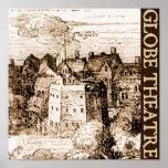 Grabado del teatro del globo de Claes Jansz Vissch Impresiones