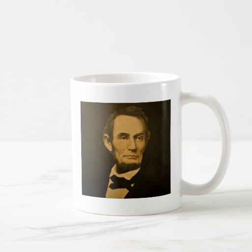 Grabado del vintage de presidente Abraham Lincoln Taza De Café