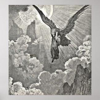 Grabado divino de Eagle del ejemplo de la comedia  Póster