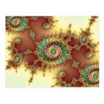 Grabado en relieve - postal del fractal