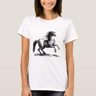 Grabado majestuoso del caballo del vintage playera