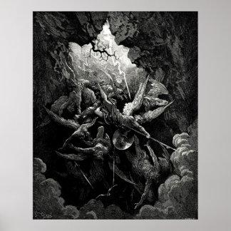 Grabado perdido del infierno del paraíso de Gustav Impresiones