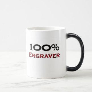 Grabador del 100 por ciento taza de café