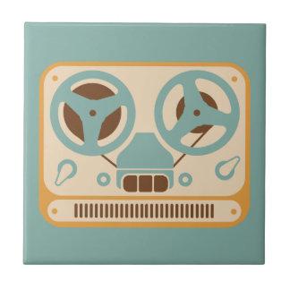 Grabadora análoga de carrete azulejo cuadrado pequeño