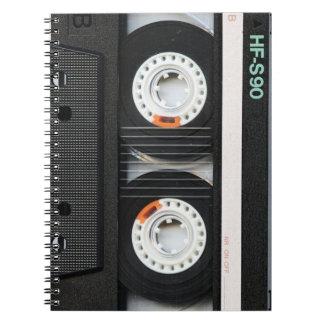 Grabadora retra de cinta del vintage 70s 80s cuaderno