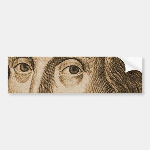 Grabados de Shakespeare Droeshout Etiqueta De Parachoque